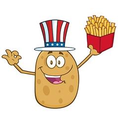 Uncle Sam Potato Cartoon vector