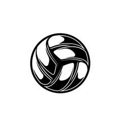 Volleyball black symbol with shadows vector