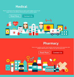 website medicine banners vector image