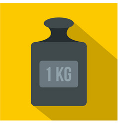 Weight 1 kg icon flat style vector