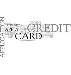 why apply online for a credit card text word vector image