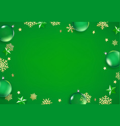 winter holidays green background vector image