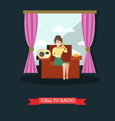 call to radio studio concept vector image vector image