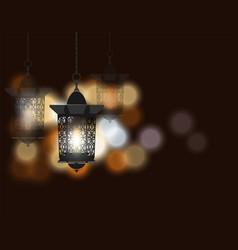 ramadan kareem celebratory background flashlight vector image