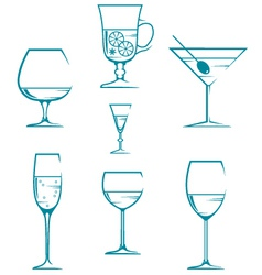 Set of symbols and icons glasses vector image