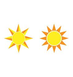 sun black icon element for design vector image vector image