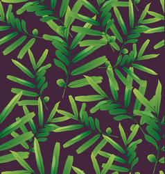 tropical leaf background vector image vector image