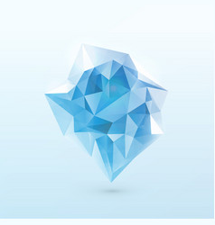 blue shine triangle iceberg vector image