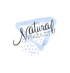 Natural Product Beauty Promo Sign vector image vector image