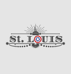 st louis city name vector image vector image
