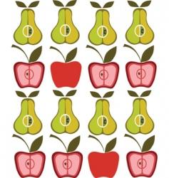 vintage pear apple background vector image vector image