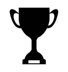silhouette monochrome Trophy Cup with plate vector image