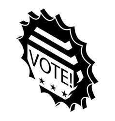 vote emblem icon simple style vector image