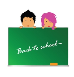 back to school with children color vector image vector image
