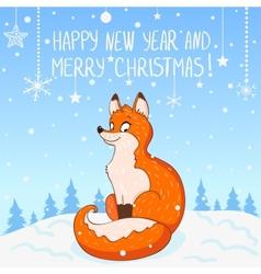 Fox New Year vector image