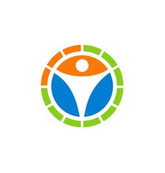human icon circle logo vector image
