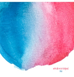 red and blue watercolor background vector image vector image