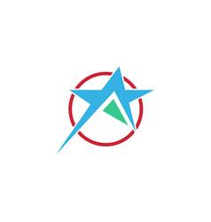 star circle abstract logo vector image