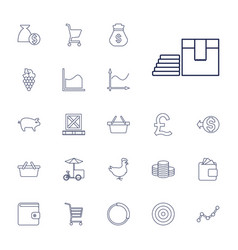 22 market icons vector