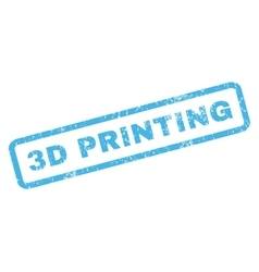3D Printing Rubber Stamp vector