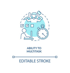 Ability to multitask turquoise concept icon vector