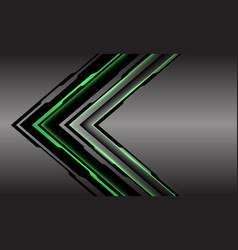 Abstract green line light cyber arrow direction vector