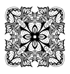 Abstract ornament black and white hand drawn vector