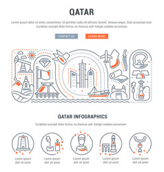 Banner qatar vector