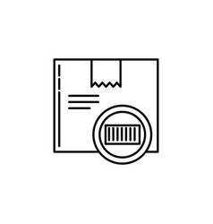 barcode parcel signs and symbols can be used for vector image
