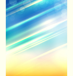 Beach blur background with rays of sun and bokeh vector