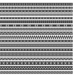border decoration elements patterns in black and vector image