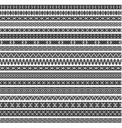 Border decoration elements patterns in black vector