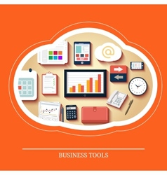 Business tools in flat design vector