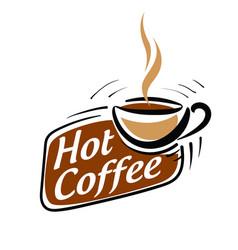 Coffee logo on white vector