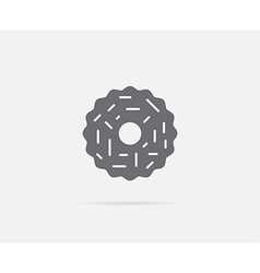 Cookie with almond ring element or icon ready vector