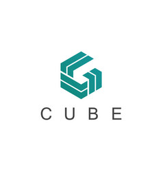 cube geometry logo vector image
