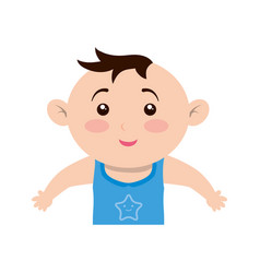 Cute baby cartoon vector