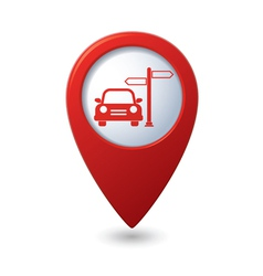Direct car RED pointer vector
