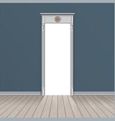empty room through the open door vector image