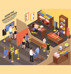 fashion studio isometric vector image