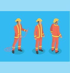 firefighter construction set vector image