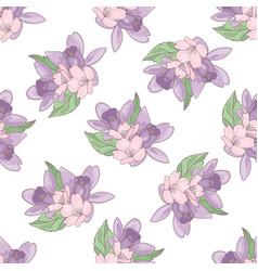 flower backdrop floral textile print illust vector image