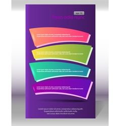 flyer vertical layout page purple background vector image