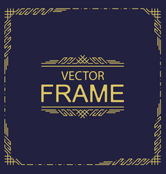 frame card template vector image