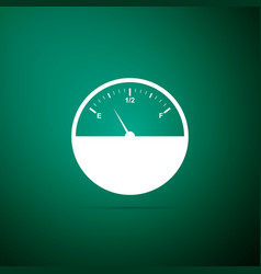fuel gauge icon isolated on green background vector image