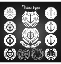 Graphic nautical emblem vector