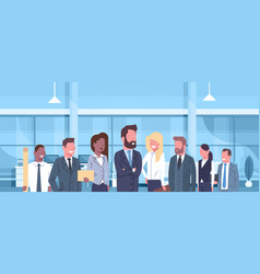 group of business people in modern office concept vector image