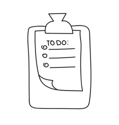 Hand drawn check to do list bullet vector