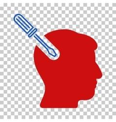 Head Surgery Screwdriver Icon vector