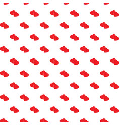 heart seamless pattern love background red vector image